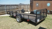 "2015 14' x 76"" dove tail utility trailer short gate"