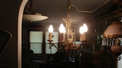 Antique Art Deco/Victorian 5 Light Chandelier Ready To Install