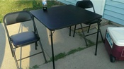 black card table n 2 chairs
